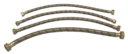 Hadica na vodu s koncovkami a opletom