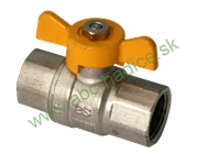 Guľový ventil motýľ na plyn - 2 x vnútorný závit