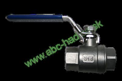 Guľový ventil pákový - 2 x vnútorný závit - NEREZ