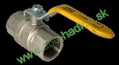 Guľový ventil pákový na plyn - 2 x vnútorný závit