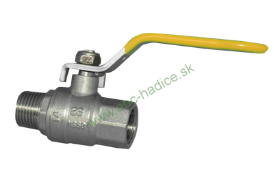Gulový ventil pákový na plyn - vnútorný a vonkajší závit